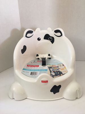 Fisher Price Table Time Cow Booster Seat-Black and White for Sale in Annandale, VA