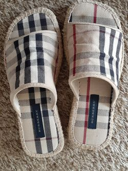 Authentic Burberry espadrilles slip on shoes for Sale in Sammamish,  WA