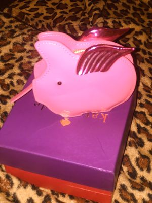 Kate Spade pink pig patent leather coin purse for Sale in Inkster, MI