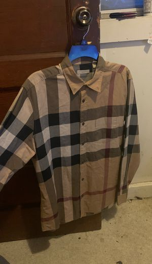 Burberry button up for Sale in Vallejo, CA