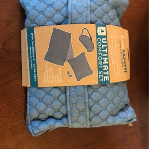 Travel Pillow, Blanket, Eye Mask for Sale in Portland, OR
