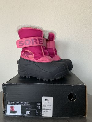 Kids Baby toddler girls pink SOREL snow boots size 10 LIKE NEW for Sale in Flower Mound, TX