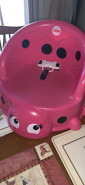 New Girls toddlers kids childs pink ladybug Fisher Price booster seat for Sale in Alpine, CA
