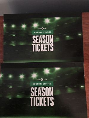 2 BOSTON CELTICS HOME GAMES TICKETS (Loge 7-Row 3) for Sale in Waltham, MA