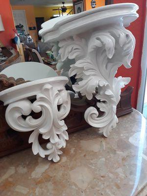 Decorative white shelves for Sale in Las Vegas, NV
