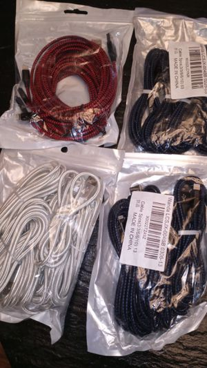 iPhone charging cords C type charging cords for Sale in Columbus, OH