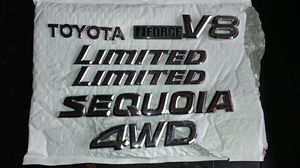 Toyota Sequoia v8 limited 4WD chrome badges for Sale in Centreville, VA