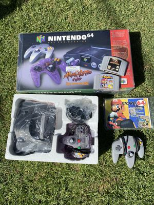 Nintendo N64 Atomic Purple + Super Smash Bro's Mortal Kombat for Sale in Anaheim, CA
