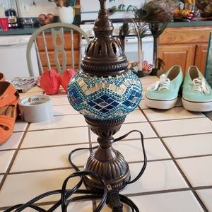Blue Stained Glass Lamp for Sale in Monroe Township, NJ