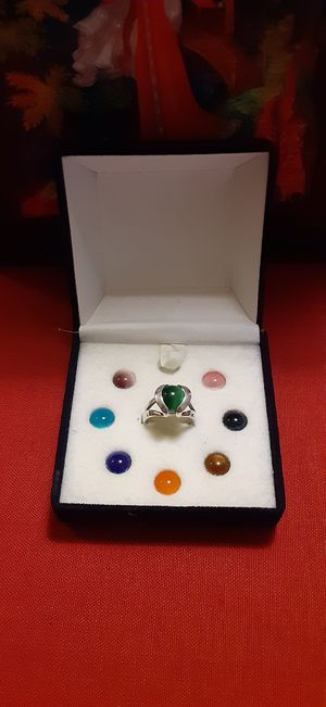 Silver 925 Interchangeable Stone size 6 Ring for Sale in Sugar Land, TX
