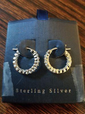 STERLING SILVER hoop EARRINGS for Sale in Tracy, CA