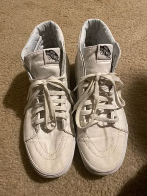 White Vans Size 9.5 for Sale in Gaithersburg, MD
