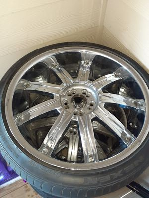 Dcent 20' rims and tires 200 for Sale in Wichita, KS