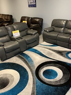 Madrid Gray Reclining Sofa, Loveseat & Chair Set On Sale!! No Credit Needed Financing And Same Day Delivery for Sale in Lakeland,  FL