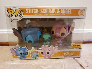 Lilo & Stitch- Stitch, Scrump, & Angel 3 Pack Funko POP for Sale in Chantilly, VA