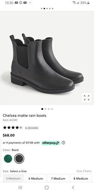 J crew rain boots for Sale in Washington, DC