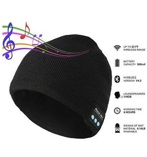 Bluetooth music beanie hat knit cap built in headset for Sale in Irvine, CA