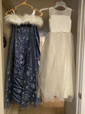 Girls flower dress and Elsa dress for Sale in Everett, WA