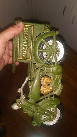 Cast iron collectables toys rare find harly post for Sale in Providence, RI