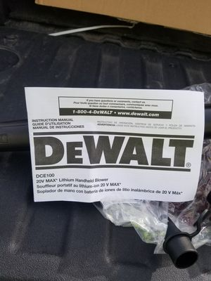 Dewalt 20v Max Handheld Blower for Sale in Smithfield, VA
