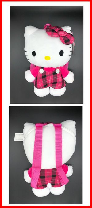 Brand NEW! Hello Kitty Novelty Plush Backpack/Pouch For Everyday Use/Traveling/Parties/Birthday Gifts/Easter Basket Stuffers $16 for Sale in undefined
