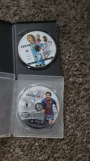 Fifa soccer 13 and 09 for ps3 console 20 each or 2 for 40. for Sale in Selma, CA