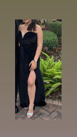 Black Velvet Crystal Prom Dress (Size 10) for Sale in Miami, FL