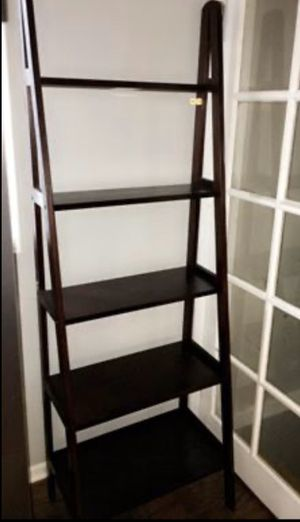 Modern espresso ladder with shelves $80 won't take less firm for Sale in Hammond, IN