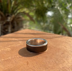 Tiffany & Co. Titanium Midnight Black Coin Edge Ring - size 10 for Sale in Westminster, CA
