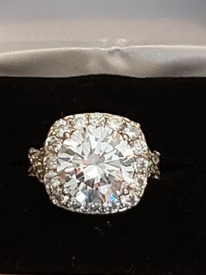 Vintage Solid silver simulated diamond and sapphire sz 7 for Sale in Meriden, CT