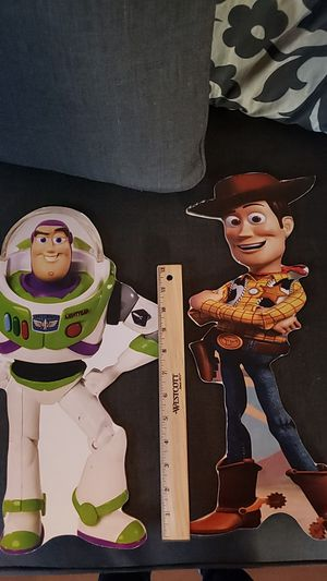 wood cut out buzz and woody for Sale in Lynwood, CA