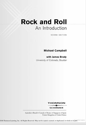 Rock and Roll An introduction by Michael Campell for Sale in Tempe, AZ