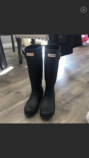 Women's black matte Hunter boots for Sale in Gresham, OR
