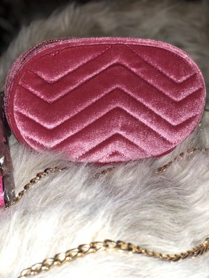 Quilted Velvet Waist & Crossbody Bag - Hotpink for Sale in Philadelphia, PA