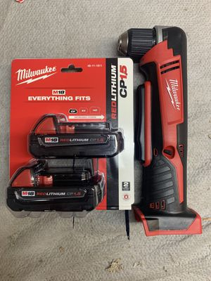 Milwaukee Angle Drill And Battery for Sale in Modesto, CA