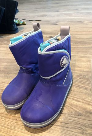 Rain or snow winter Crocs boots. Kids size 3 for Sale in Houston, TX