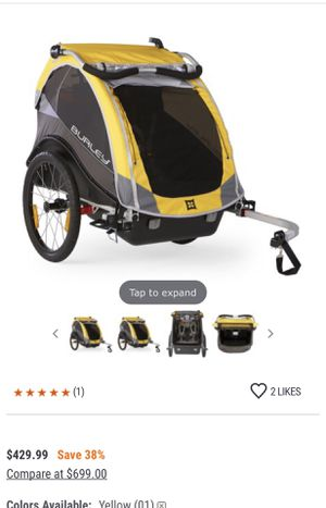 Bicycle trailer yellow and black for Sale in Pittsburg, CA