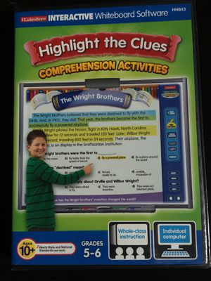 Lakeshore Highlight The Clues: Comprehension Activities Grades 5/6! (CD-Rom) for Sale in Hillsboro, OR