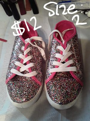 New size 2 sparkle shoes for Sale in Suitland-Silver Hill, MD