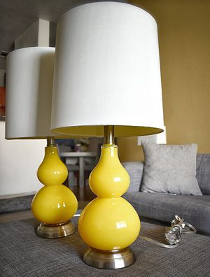 2 Yellow Lamps for Sale in Sun Lakes, AZ