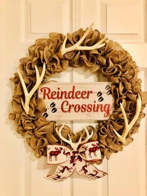 Antlered Themed Winter Door Wreath for Sale in Johns Island, SC