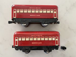 Vintage Marx Montclair Pullman Red Train Passenger Cars for Sale in Tucson, AZ