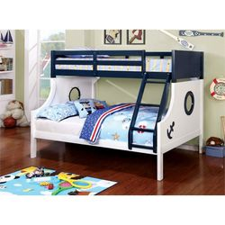 Free Local Curbside Delivery Twin Full Wood Bunk Bed Includes Both Mattresses for Sale in Beltsville,  MD