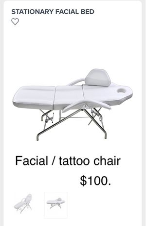 Beauty spa tattoo chair folds up not really for portable work but easy to move for Sale in Danville, CA