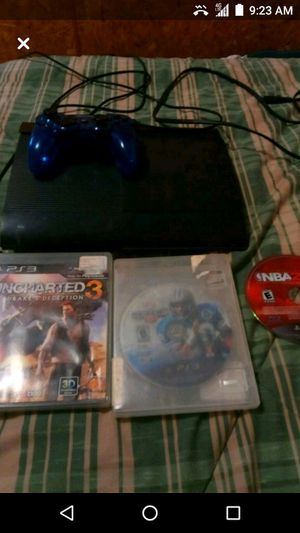 Sony PS3 system with 1 controller and 3 games for Sale in Greenville, MS
