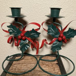 Metal Art Candle Holder Pair for Sale in Sherwood, OR