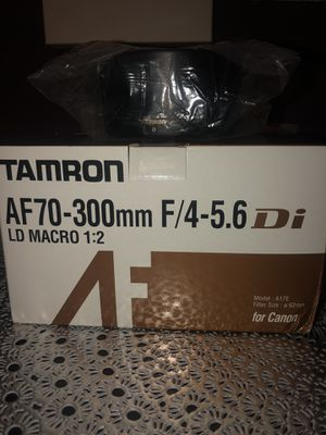 Tamron AF70-300mm F/4-5.6 Di for canon for Sale in Riverdale, MD