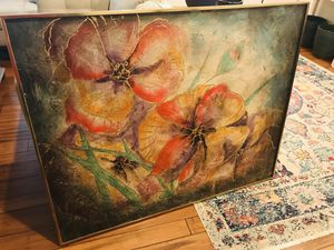 Floral painting 40X50 inch for Sale in Garner, NC