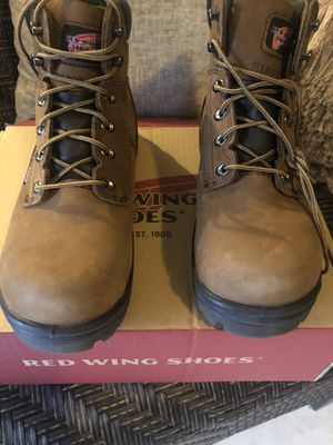 RED WING SIZE 8 6 INCHES TALL SAFETY TOE BOOTS BRAND NEW for Sale in Vallejo, CA