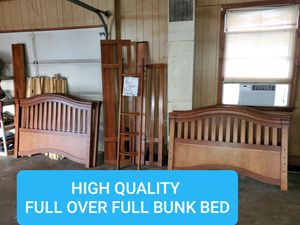 Full over full size bunk bed set for Sale in Julian, NC